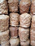 sort de chocolat couvert par bonbon empilé Photographie stock libre de droits