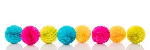 Sort de lampions colorés Image stock