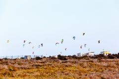 Sort de parachutes pour Kitebording Image stock