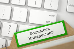 Sort Index Card with Inscription Document Management. 3D. Stock Photo