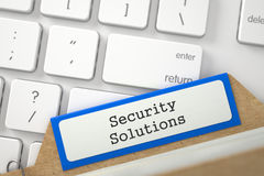 Sort Index Card with Security Solutions. 3D. Stock Photos