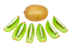 Sort kiwi fruit isolated. Sort kiwi fruit on white background royalty free stock photography