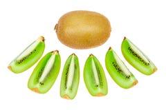 Sort kiwi fruit isolated. Sort kiwi fruit on white background Royalty Free Stock Photography