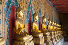 Sort long Buddha. Art of the temple in Bangkok Stock Photography