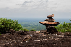 Sort meditation stones coach high place. Royalty Free Stock Images