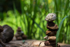 Sort meditation stones coach high place. Sort meditation stones coach high place closeup Royalty Free Stock Photo