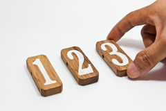 Sort numbers. In ascending order Stock Photo
