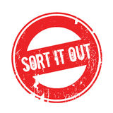 Sort It Out rubber stamp Royalty Free Stock Photography
