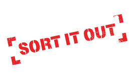Sort It Out rubber stamp Royalty Free Stock Image