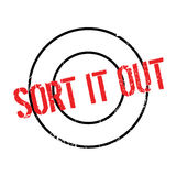 Sort It Out rubber stamp Stock Images
