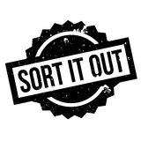 Sort It Out rubber stamp Royalty Free Stock Photos