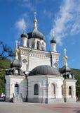 Sort på en ortodox tempel Arkivfoton
