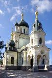 Sort på en ortodox tempel Fotografering för Bildbyråer