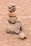 Sort stones to renew their faith Royalty Free Stock Photo