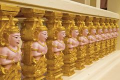 Sort temple wall Royalty Free Stock Photo