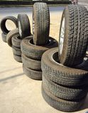 Tyre automobile. Wheel tire black rim rubber royalty free stock photos