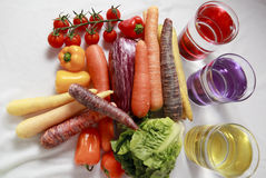 Sort of Vegetables. On withe background stock image