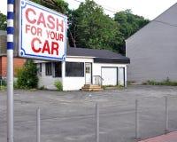 Sort vide de voiture d'occasion Photos stock