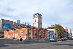 Sortavala, Karelia, Rusia Viejo parque de bomberos Fotos de archivo libres de regalías