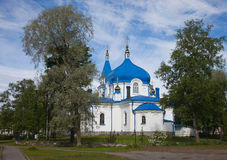 Sortavala. Saint Nikolay's church. Republic of Karelia. Sortavala. Saint Nikolay's church Royalty Free Stock Photography