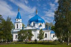 Sortavala. Saint Nikolay's church. Republic of Karelia. Sortavala. Saint Nikolay's church Stock Image