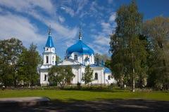 Sortavala. Saint Nikolay's church. Republic of Karelia. Sortavala. Saint Nikolay's church Stock Photos