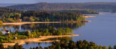 Sortavala, vista della Russia degli skerries di Ladoga Immagine Stock Libera da Diritti