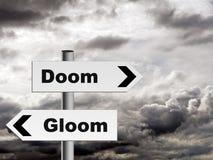 Sorte avversa e buio - prospettiva del pessimista su vita ecc Fotografia Stock Libera da Diritti