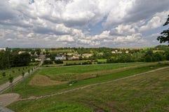 Sorte d'une vue aérienne d'un paysage vert photo stock