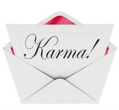 Sorte da boa notícia do envelope de Karma Invitation Letter Message Open Fotografia de Stock