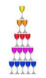 Sorte do Wineglass pelo vertical Imagens de Stock