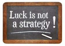 A sorte não é uma estratégia fotografia de stock royalty free