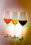 Sorte trois de vin Image libre de droits