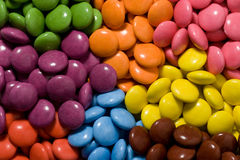 Sorted. All the colors of smarties Stock Photo