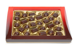 Sorted chocolate candies box Royalty Free Stock Photos