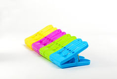 Sorted colorful clips Royalty Free Stock Photo
