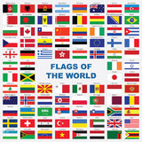 Sorted flags of the world with detailed emblems Royalty Free Stock Image