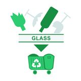 Sorted garbage glass Royalty Free Stock Image