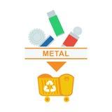 Sorted garbage metal Stock Photos