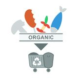 Sorted garbage organic Stock Images
