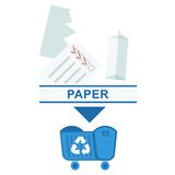 Sorted garbage paper Royalty Free Stock Photo