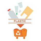 Sorted garbage plastic Royalty Free Stock Photography