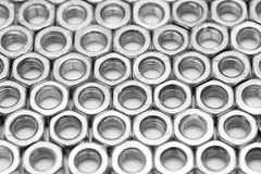 Sorted screw nuts background Stock Photos