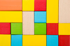 Sorted wooden toy Block. Background Stock Photos