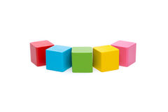 Sorted wooden toy Block. Background Stock Image