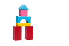 Sorted wooden toy Block. Background Royalty Free Stock Photography
