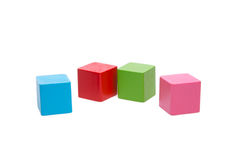 Sorted wooden toy Block. Background Stock Photography