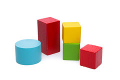 Sorted wooden toy Block. Background Stock Photo