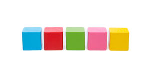 Sorted wooden toy Block. Background Royalty Free Stock Photos