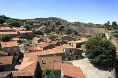 Sortelha – Historical Village of Portugal. View of Sortelha, the oldest and best preserved historical village of Portugal stock photography